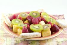 Free Fruit Plate Royalty Free Stock Photography - 2163547