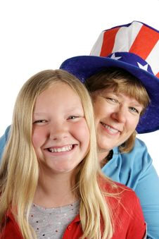 Free American Girl & Mom Royalty Free Stock Photography - 2163647