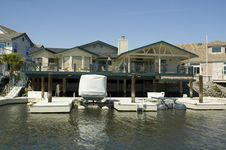 Executive House On The Water Royalty Free Stock Photo