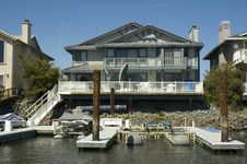 Executive House On The Water Stock Photography