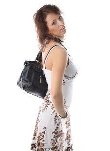 Girl With A Bag Stock Image