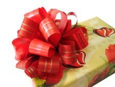 Free Red Ribbon Tied Yellow Box Royalty Free Stock Photos - 2165348