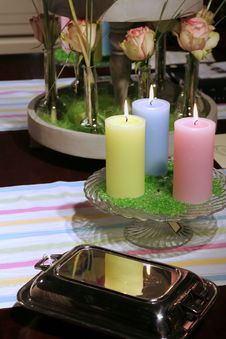 Free Table Still-life With Candles Royalty Free Stock Photography - 2165797