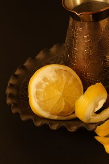 Free Cafe And Lemon Royalty Free Stock Image - 2165876