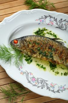 Free Oven Fish With Spice Royalty Free Stock Photo - 2165915