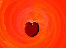 Fractal Valentine Heart Royalty Free Stock Photography