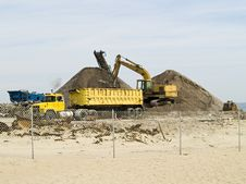 Beach Work Site Stock Photography