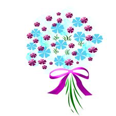 Flower Bouquet With Bow Royalty Free Stock Image