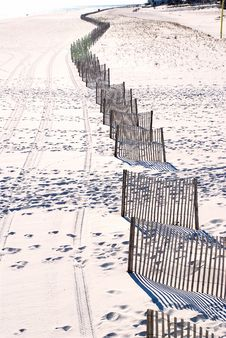 Fences In The Sand Stock Photography