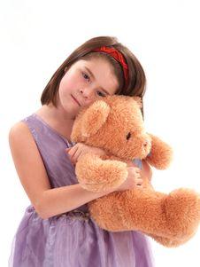 Free Adorable Girl With Bear Stock Photos - 2168743