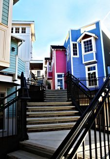 Free Colorful Houses 2 Stock Image - 21600991