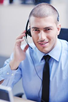 Free Businessman With A Headset Royalty Free Stock Images - 21603499