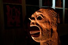 Free Portrait Of A Wooden Sculpture Stock Photos - 21604133