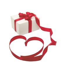 Free Gift With Ribbon Stock Photography - 21604242