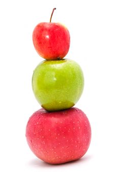 Free 3 Apple Isolated Stock Image - 21605101