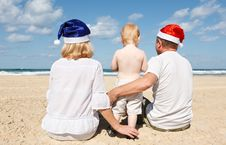 Free Happy Family Resting On The Sea Stock Photos - 21605993