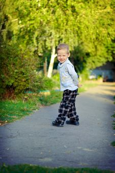 The Kid On Avenue Stock Images