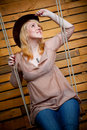 Free Cowboy Girl In Hat Stock Photo - 21614930