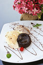 Free Chocolate Lava Cake Royalty Free Stock Image - 21615976