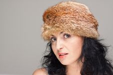 Free Mature Woman In Fur Hat Royalty Free Stock Photo - 21610705