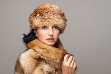 Free Attractive Woman In Fur Stock Photo - 21611780