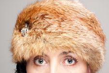 Free Closeup Of Fur Hat And Eyes Stock Photos - 21611803