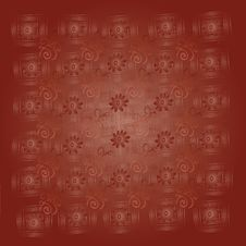 Free Abstract Brown Background With Flowers And Squares Stock Photos - 21613163