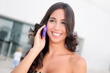 Free Woman Talking On Phone Stock Photography - 21613192