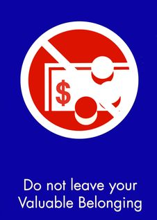 Free Warning Sign Stock Photography - 21615782