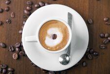 Macchiato Coffee Stock Photo