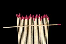 Free Matches On Black Royalty Free Stock Images - 21619259