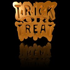 Free Trick Or Treat Background Royalty Free Stock Photo - 21620835
