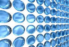 Free Abstract 3d Metallic Disks Royalty Free Stock Photography - 21621267