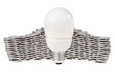 Free Power Saving Energy Lightbulb. Royalty Free Stock Images - 21624929
