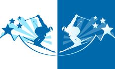 Free Skier Stock Images - 21625294