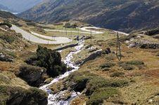 Free Mountain Road, Swiss Alps Royalty Free Stock Photos - 21627368