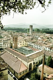 Free Old Italian Town Panorama Royalty Free Stock Photography - 21628187