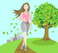 Free Girl Jogging Royalty Free Stock Photography - 21639817