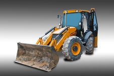 Tractor With Clipping Path Stock Photo