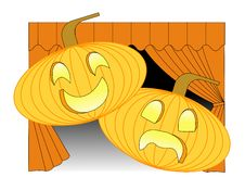 Free Theatrical Pumpkins Stock Photo - 21630790