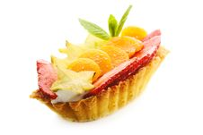 Free Cake Basket With Fruits Stock Photos - 21631243