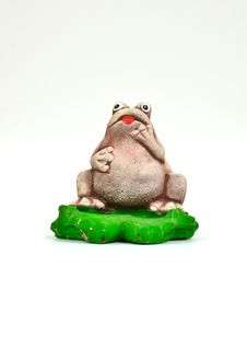 Free Statuette Of A Frog Stock Image - 21631311