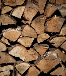 Free Firewood Stack Royalty Free Stock Photos - 21631588
