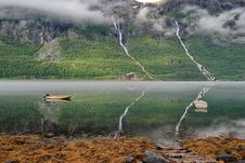 Free Norway Fjord Reflection Royalty Free Stock Photography - 21634027