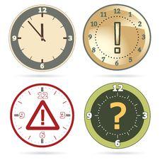 Free Clock Set Royalty Free Stock Photos - 21634758