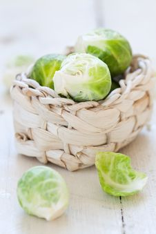 Free Brussels Sprouts In A Basket Stock Photos - 21635373
