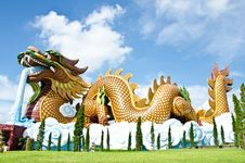 Free Large Dragon Statue. Stock Photo - 21635620