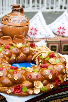 Free Traditional Moldavian Round Loaf Stock Images - 21636224