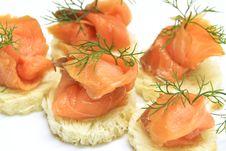 Free Salmon Sandwich Royalty Free Stock Photo - 21636765