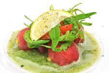 Free Tuna Mango Salsa Royalty Free Stock Image - 21636906